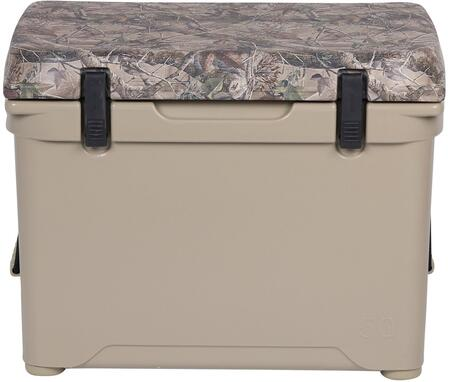 ENG50-C 1.6 Cu. Ft. DeepBlue Roto-Molded High-Performance Cooler with Built-In Handles  Stainless Steel Inserts  Unity Latch System and Cornerstone Feet in Tan