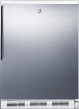 FF6LSSHV 24 inch  FF6 Series Medical Freestanding Compact Refrigerator with 5.5 cu. ft. Capacity  Interior Light  Door Storage  Crisper and Automatic Defrost: