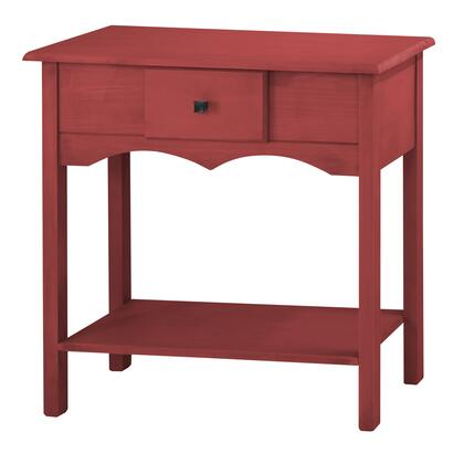 "CS50203 Jay 31.49"" Tall Sideboard with 1 Full Extension Drawer in Red"