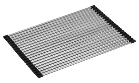 ABDM1813 Modern Drain Mat for Kitchen  with Stainless Steel and Durable Black Plastic in Stainless