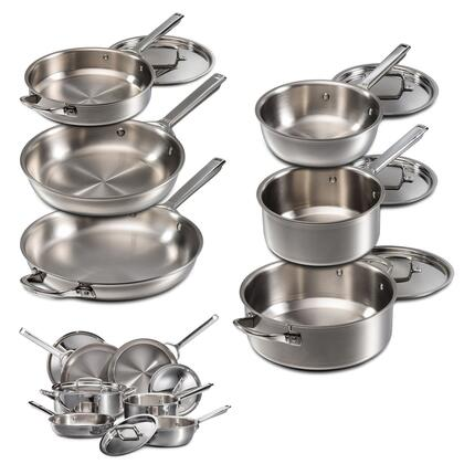 WGCW100S 10 Piece Gourmet Series Cookware Set With Dishwasher Safe Proprietary 7-Ply Construction  Fast  Even Heating  Beveled Walls  And Sturdy  Ergonomic