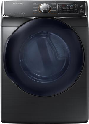 "DV50K7500EV 27"" Energy Star Electric Dryer with 7.5 cu. ft. Capacity  14 Dry Cycles  5 Temperature Settings  MultiSteam function and Drying Rack: Black"