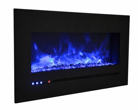Sierra Flame WM-FML-88-9623-STL 88 Inch Wall Mount/Flush Mount with Steel Surround and Clear Media