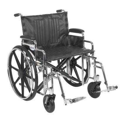 std24dda-sf Sentra Extra Heavy Duty Wheelchair  Detachable Desk Arms  Swing Away Footrests  24