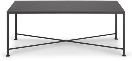 Diversey Collection 207256 40 inch  Coffee Table with X-Shaped Cross Brace  Stacked Foot Design and Solid Steel Bar Powder Coated in Coco Brown