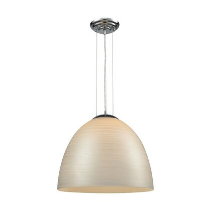 565321_Merida_1_Light_Pendant_in_Polished_Chrome_with_Silver_Linen