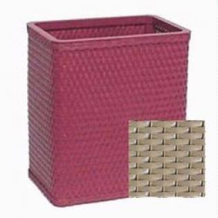 S426WH Chelsea Collection Decorator Color Square Wicker Wastebasket in