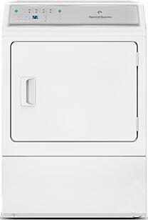 """ADEE9BGS173TW01 27"""" Electric Dryer with 7.0 cu. ft. Capacity  Commercial Steel Drum  2.06 sq. ft. Door Opening  7 Pre-Set Cycles  Reversible Door  and 4"""
