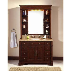 WF6495/DC 48 inch  Single Bathroom Vanity Set with Hutch  in