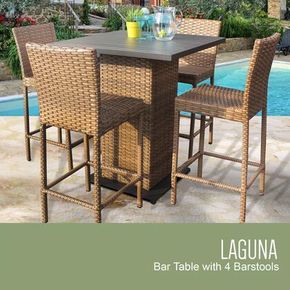 LAGUNA-PUB-KIT-4 5-Piece Laguna Pub Table Set with Table and 4 Bar Stools with