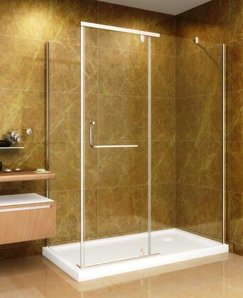 SD975-II-R10- 60 inch  x 35 inch  Shower Enclosure with Shower Base in Chrome Finish - Right Hand