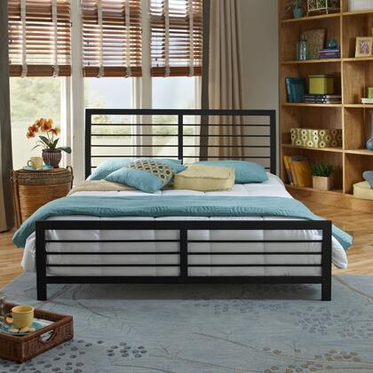Tiffany Collection MFP01853QN Queen Size Platform Bed with Metal Frame and Modern Style in Dark