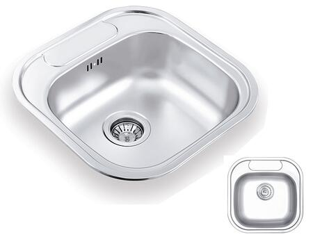 CO480480 Inset Single Bowl Stainless Steel