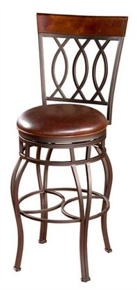 Treviso Series 130849PP-L32 30 Traditional Bar Stool With Uniweld Metal Construction  Full Bearing Swivel  3