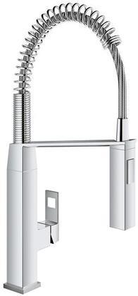 Grohe 31401000 Eurocube Single-Handle Kitchen Faucet, Starlight