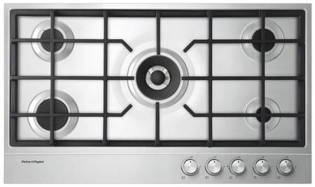 Fisher Paykel CG365DNGX1N 36 Inch Natural Gas Cooktop with 5 Sealed Burners, Electronic Ignition, Cast Iron Grates in Stainless Steel