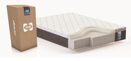 Sealy to Go Collection F03-00088-CK0 12 inch  Thick California King Size Hybrid Mattress with Individually Pocketed Coil System  Knitted Jacquard Top Cover and