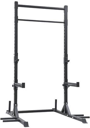 XM-5149 4'x6' CrossFit Squat Rack with Heavy Duty Spotter Arms  Dip Station  Peg Station and Fat & Regular Pull Up Bars in