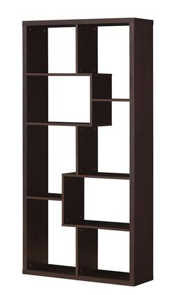 Mileta Collection 92089 35 inch  Bookcase with Hollow Board and PU Paper Materials in Cappuccino