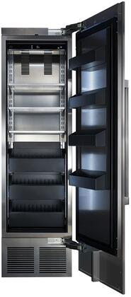 CR24F-1-2R 24 inch  Right Hinge Solid Door Column Freezer with Stainless Steel Interior  Spill-proof Glass Shelves  Humidity Control  and 3 Temperature Zones  in