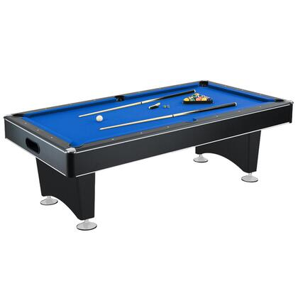 NG2520PB Hustler 8' Pool Table with Slate Graded Rails and an Internal Ball Return