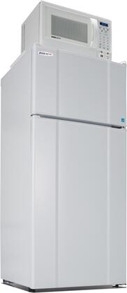 10.3LMF4-9D1W Freestanding Top Freezer Refrigerator with 10.3 Cu. Ft. Capacity  850 Watt Microwave  Smoke Sensor  USB Charging Station  Temperature Control and