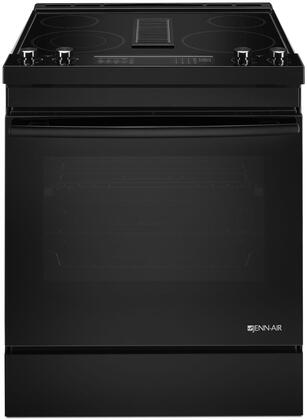 "JES1750FB 30"""" Electric Downdraft Range with 6.4 Capacity  Duct-Free Filer Kit  Dual Zone Elements  True Convection  Telescoping Glide  Rack  and Aqualift Self"" 810540"