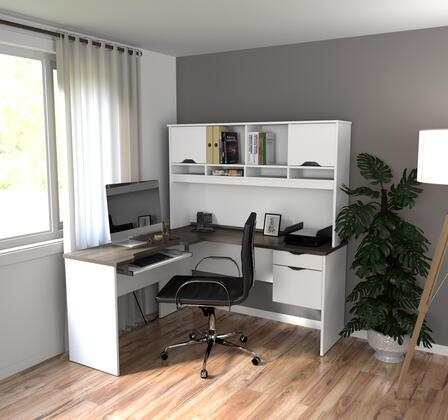 92420-52 Innova L-shaped desk in White and