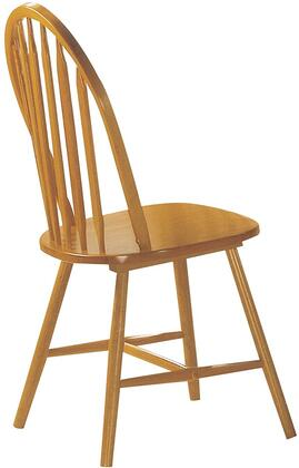 Farmhouse Collection 02482OAK 19 inch  Side Chair With Stretcher and Tapered Legs in Oak