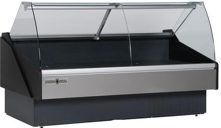 KFMCG100S Curved Glass Deli Case with 32.54 cu. ft. Capacity  3/4 HP  Designed for Fresh Meat  in