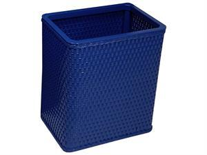 S426CB Chelsea Collection Decorator Color Square Wicker Wastebasket in Coastal