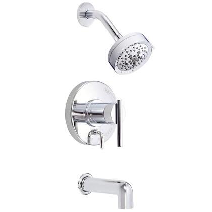 D512058T Parma 1-Handle Pressure Balance Tub and Shower Faucet Trim Kit in Chrome