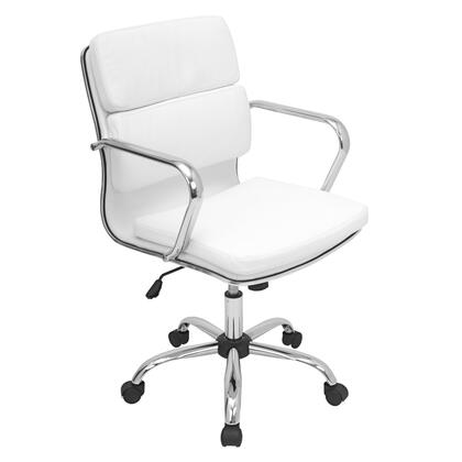 OFC-AC-BAC W Bachelor Height Adjustable Office Chair with Swivel in