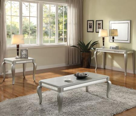 Francesca Collection 83080SET 3 PC Living Room Table Set with Rectangular Shaped Coffee Table  Rectangular Shaped Sofa Table and Square Shaped End Table in