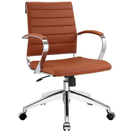 Jive Collection EEI-273-TER Office Chair with 5-Caster Dual Wheel Base  Padded Arms  Chrome-Plated Aluminum Frame  Tilt Lock Tension Control  Adjustable Height