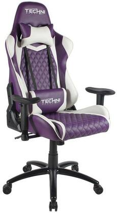 RTA-TS52-PPL Ergonomic High Back Racer Style Video Gaming Chair In