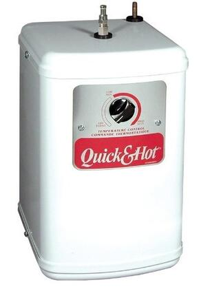 AH-1300-C Quick and Hot Instant Hot Water Tank With 1300 Watt Heating Element  Heater Protection Control  5/8 Gallon Stainless Steel Tank & Removable Drain