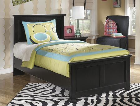 Maribel B138-52/53/83 Twin Size Panel Bed with Clean-Line Design  Scalloped Top and Base and Low Profile in