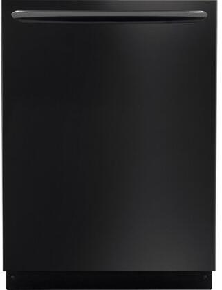 "Frigidaire Gallery 24"" Top Control Tall Tub Built-In Dishwasher with Stainless Steel Tub Black FGID2476SB"