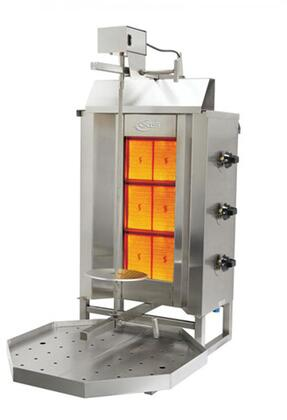 AXVB3 Gas Vertical Broilers with 34140 BTU  Meat Capacity of 90 Lbs  in Stainless