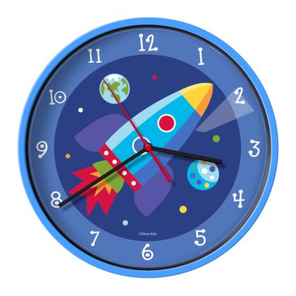 623411 Olive Kids Out of this World Wall Clock  Blue