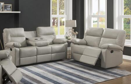 Kenzie Collection 2050-SL-IV 2-Piece Living Room Set with Reclining Sofa  and Loveseat in