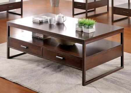 Silas_Collection_5956-CT_Coffee_Table_with_2_Drawers__Open_Shelf__Solid_Hardwood_Construction__Ash_Veneer_and_Poplar_Material_in_Brown