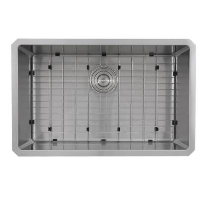 Pro Series SR3018 Rectangle Single Bowl Undermount Small Radius Corners Stainless Steel Kitchen Sink  16
