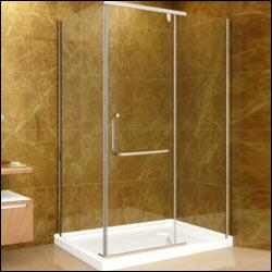 SD975-I-10-L 48 inch  x 35 inch  Shower Enclosure with Shower Base in Chrome Finish with 10mm Glass - Left Hand