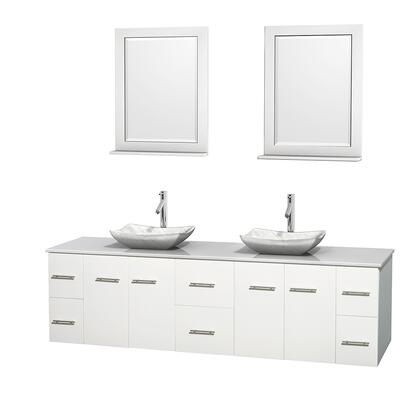 WCVW00980DWHWSGS3M24 80 in. Double Bathroom Vanity in