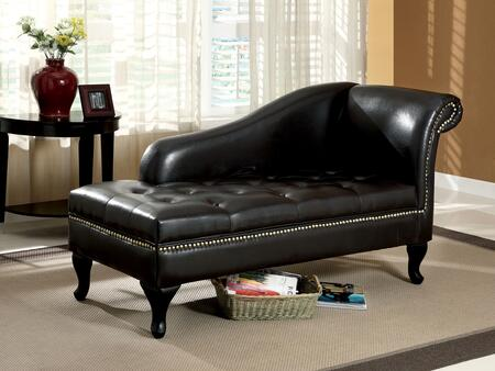 Lakeport CM-BN6893 Storage Chaise with Contemporary Style  Under-Seat Storage  Nailhead Trim  Soft and Smooth Fabric in