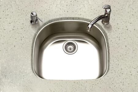 PNG-2400-1 Eston Series Undermount Stainless Steel Single D Bowl Kitchen Sink  16