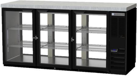 BB72HC-1-G-PT-B-27 72 Pass-Thru Back Bar Refrigerator with 22.1 cu. ft. Capacity  LED Lighting  Self-Closing Swing Doors  and Epoxy Coated Shelves