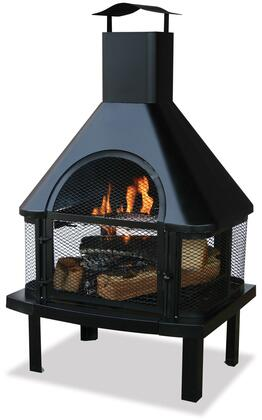 "WAF1013C Endless Summer 25"" Woodburning Outdoor Firehouse with Large Chimney and Slide-Out Cooking"